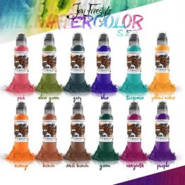 Set Tusuri Jay Freestyle Watercolor Ink Set 12x30ml