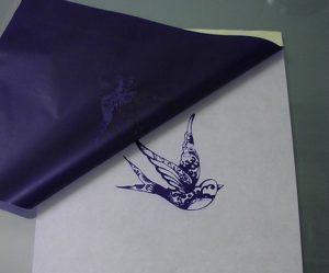 Pregatire stencil tatuat